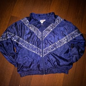 Dark Blue Windbreaker